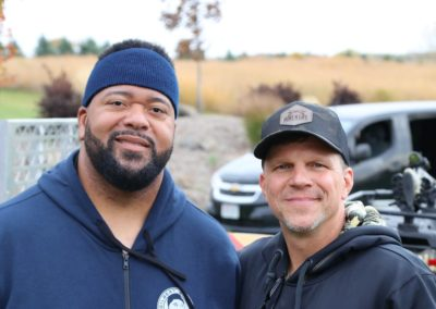 Gilbert Brown at the Hunt 4 Life Foundation 2020 Sportsman's Charity Hunt with founder Mark Neumann